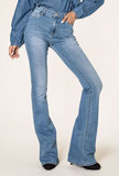 Jeans Flared Jeansblauw extra lang lengtemaat 34_