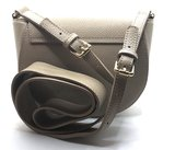 Cross Body Tas Leer Beige met Ringen_