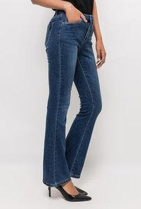 Jeans Flared Donkerblauw lengtemaat 30