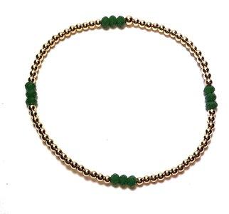 Armband met Groene Agate