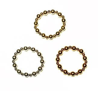 Bolletjes ring 4mm/2,5mm