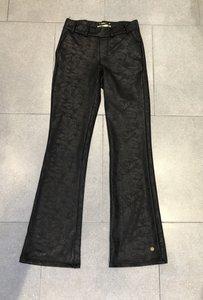 Leather Look Flared Broek Y-Conic Zwart