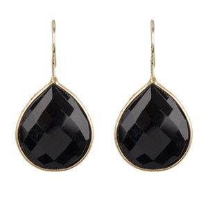 Zwarte Onyx oorbellen